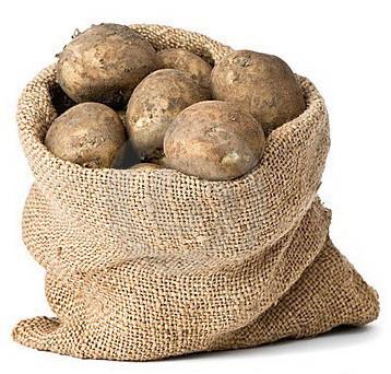Хранение картофеля в мешках дома
