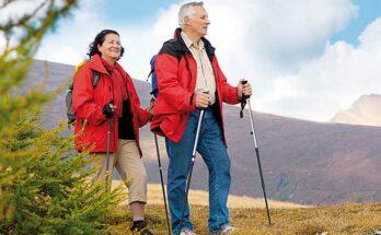 Скандинавская ходьба - техника ходьбы, польза для пожилых людей