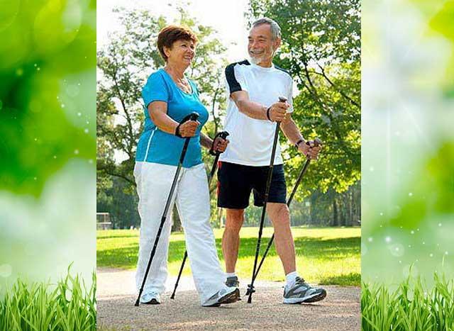 Скандинавская ходьба - польза для пожилых людей, начинающих, Как правильно ходить в палками, техника ходьбы